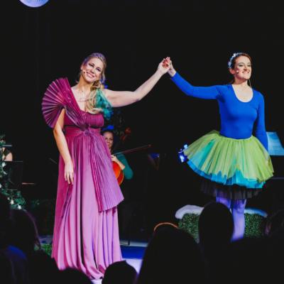 Karin Meissl beim Kinderkonzert bei den Tiroler Festspielen